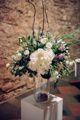 One of two stunning arrangements that were on pedestals at the front of the ceremony.
