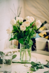 Beautiful white roses for the buttonholes