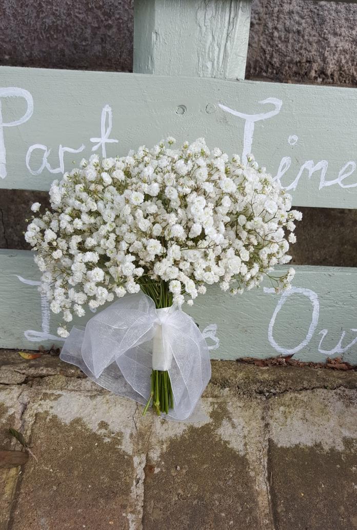 Bridesmaid Gypsophila bouquet