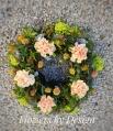 Symmetrical sympathy wreath