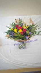 £40. A bright and cheerful bouquet for a 21st birthday