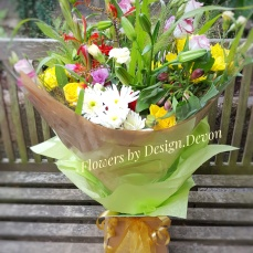 A large luxury aqua packed bouquet