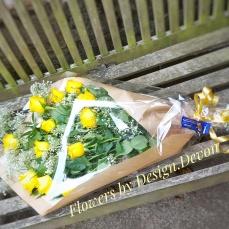 A presentation bouquet for a Golden wedding anniversary