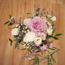 pretty lilac,pink,blue bouquet hand tied bouquet