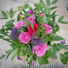This bouquet was created for someone who loves foliage with their flowers