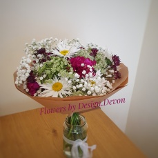 A bouquet for a friend, just to say good to see you again.
