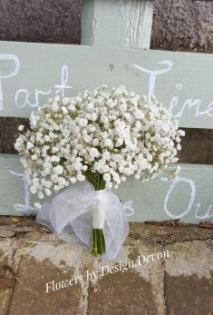 A Gypsophila bouquet