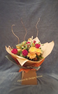A bouquet in lovely rich autumnal colours