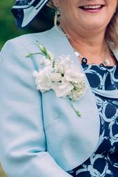 Ladies white corsage