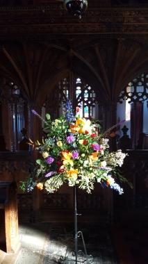 Colourful Church pedestal