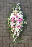4ft double ended spray. Pink and white mixed flowers