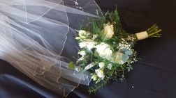 Beautiful classic white and green bouquet